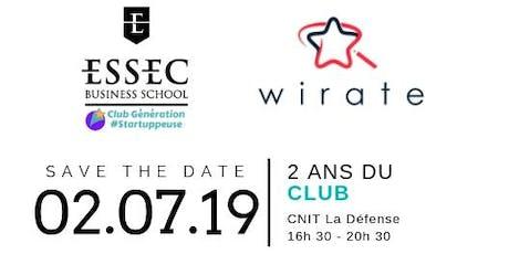 Club Gén #Startuppeuse - Atelier WIRATE & un Pot animé (parcours actif) billets