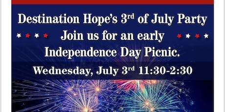 Destination Hope's 3rd of July Party tickets