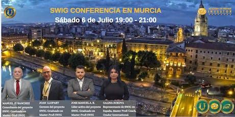 Te invitamos a nuestro evento de SWIG  y STO CRYPTOUNIT en MURCIA. entradas