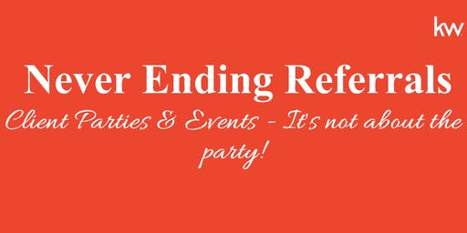NER: Client Parties & Events - It's not about the party!