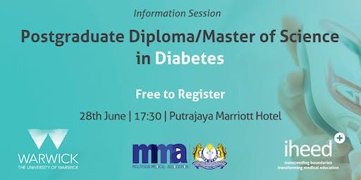 University of Warwick: Pg.Dip/MSc. Diabetes - Info Session - Selangor - Jun 2019