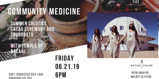 COMMUNITY MEDICINE: SUMMER SOLSTICE CACAO CEREMONY WITH TEMPLE OF NACAAL