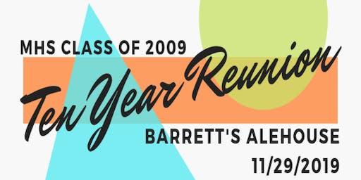 Middleboro High School Class of 2009 - Ten Year Reunion