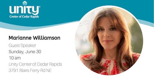Marianne Williamson, Guest Speaker at Unity Center of Cedar Rapids