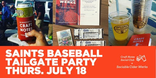 Saints Baseball Tailgate with Sociable Cider