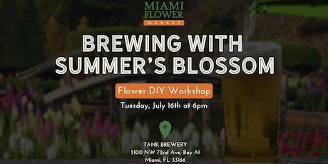 Flower DIY Workshop with Beer! tickets