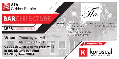 BARchitecture Tour & Mixer [TLO Wines] tickets
