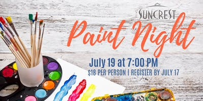 July SunCrest Paint Night