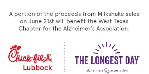 Milkshakes for Memories at Chick fil A for West Texas Alzheimer's Assoc.