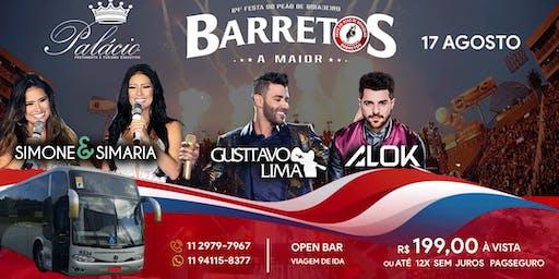 Transporte Excursão Rodeio Barretos 17/08/2018 Open bar (Ida)