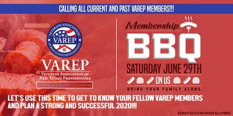 VAREP Orange County Membership BBQ  tickets