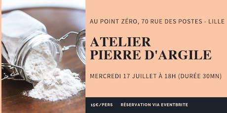 Atelier Pierre d'argile tickets