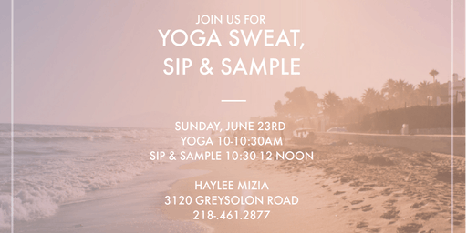 Yoga Sweat, Sip & Sample