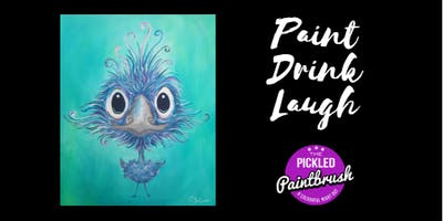Painting Class - Willy the Emu - July 27, 2019
