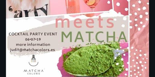 Pink ROSÉ Meets Green MATCHA