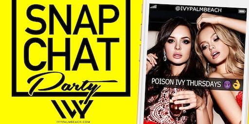 Ivy Thursdays Snap Chat Party