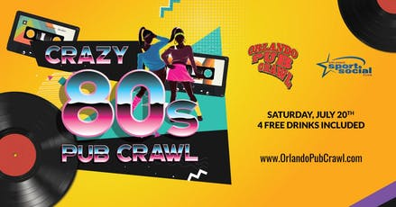 The 14th Annual Crazy 80's Pub Crawl tickets