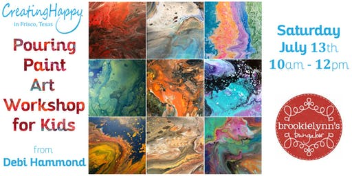 Paint Pouring Art Workshop for Kids Ages 8 - 12