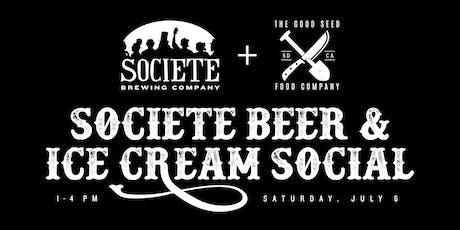 Societe Beer & Ice Cream Social tickets