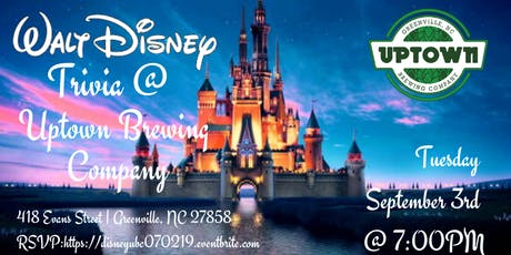 Disney Movie Trivia at Uptown Brewing Company tickets
