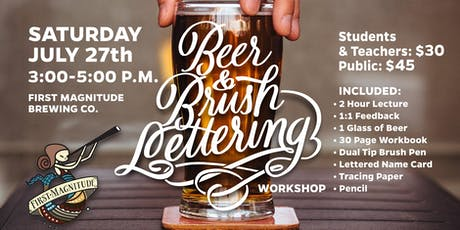 Beer and Brush Lettering Workshop tickets