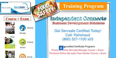 Servsafe Online Course + Exam $100 - $250 (860) 993-4440