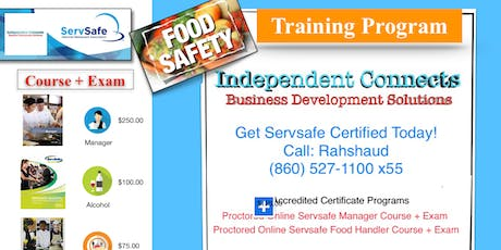 Servsafe Online Course + Exam $100 - $250 (860) 993-4440 tickets