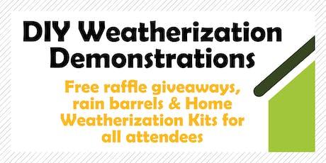 DIY Weatherization Demonstrations tickets