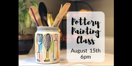 Pottery Painting Class - August tickets