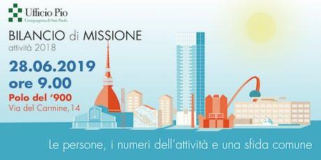 Presentazione del BILANCIO DI MISSIONE dell'UFFICIO PIO biglietti