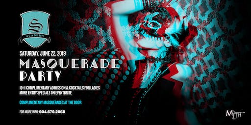 Myth Nightclub's Summer Masquerade Party *JAX's Premier Saturday Night*