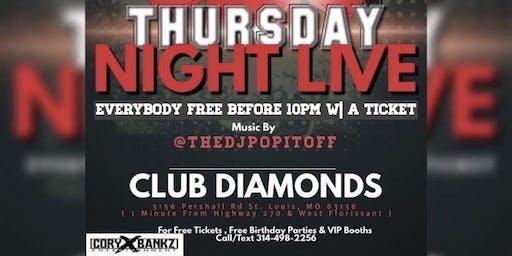 Thursday Night Live at Club Diamonds