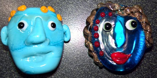 Bead Making Level One Workshop: Funky Faces | 2020