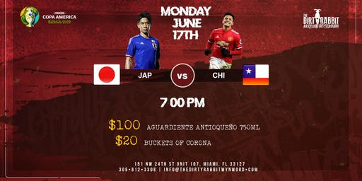 Japan vs. Chile - Copa America at The Dirty Rabbit