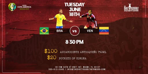 Brazil vs. Venezuela - Copa America at The Dirty Rabbit