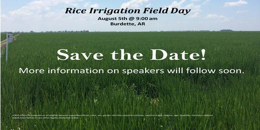 Rice Irrigation Field Day with Cover Crops and a Row Rice Field Demonstration