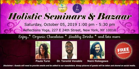 Free !  Holistic Seminars & Bazaar tickets