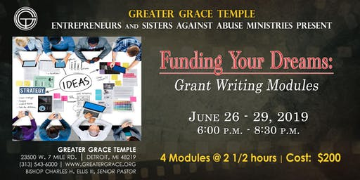 FUNDING YOUR DREAMS: GRANT WRITING MODULES - 4 SESSIONS