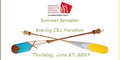 ASID OC Summer Evening Semester at SOCO tickets