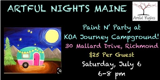 Paint N' Party at KOA Journey Campground