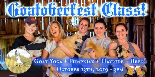 GOATOBERFEST at NY Goat Yoga!