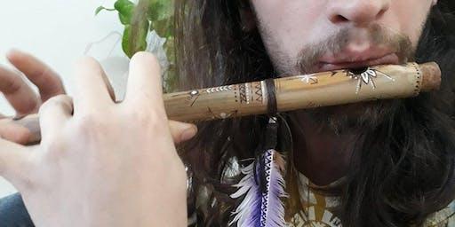Pífanos de bambu e flauta doce no PVC