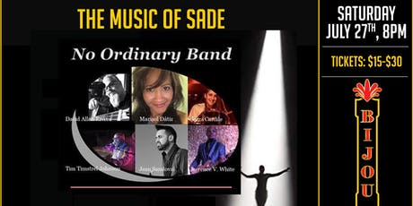 The Music of SADE - No Ordinary Band tickets