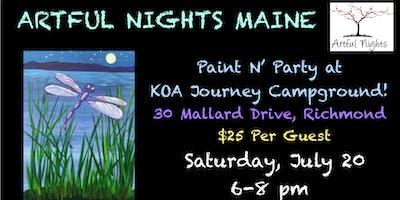 Paint N' Party Night at Augusta/Gardiner KOA Journey!