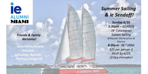 Summer Sailing & ie Sendoff!