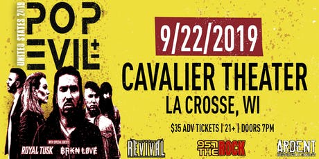 Pop Evil at Cavalier Theater | La Crosse, WI tickets