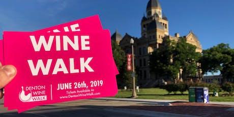 Denton Wine Walk 2018-2019 Season tickets