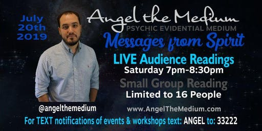 LIVE Audience Readings w/ Angel the Medium Messages from Spirit Small Group
