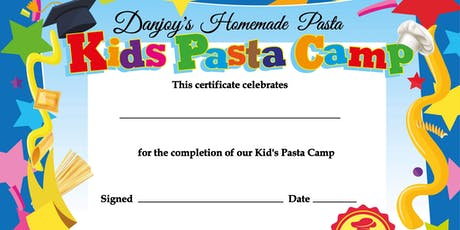 Kid's Pasta Camp - June 24th - June 27th tickets