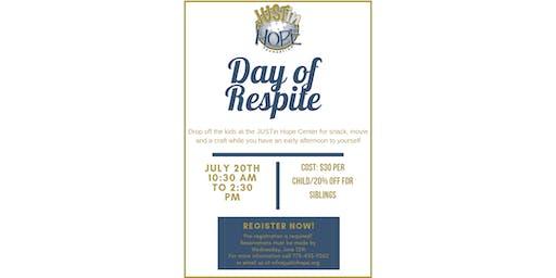 Day of Respite at JUSTin Hope